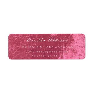 Coral Sweet-Red Pink White New Adress RSVP Return Address Label