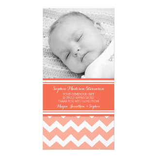 Coral Thank You Baby Shower Photo Cards