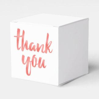 Coral thank you favor boxes, foil favour box