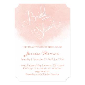 Coral Watercolor Bridal Shower Invitation