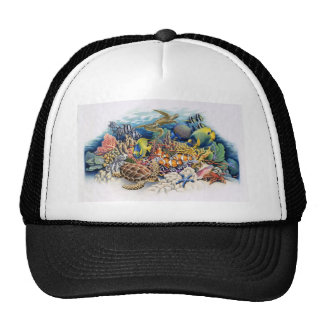 Coral Waters With Tropical Fish Hats
