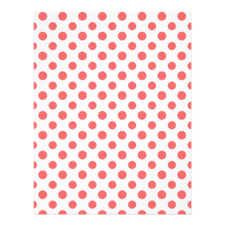 Coral White Polka Dots Pattern Custom Flyer