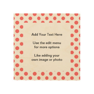 Coral White Polka Dots Pattern Wood Canvases