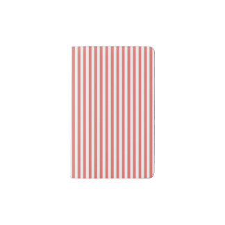 Coral & White Sailor Stripes MOLESKINE Notebook