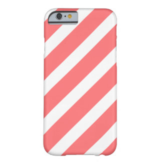 Coral White Stripes Pattern Girly iPhone 6 case