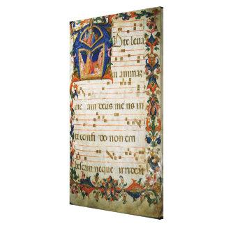 Corale / Graduale no.5  Historiated initial 'A' de Gallery Wrap Canvas