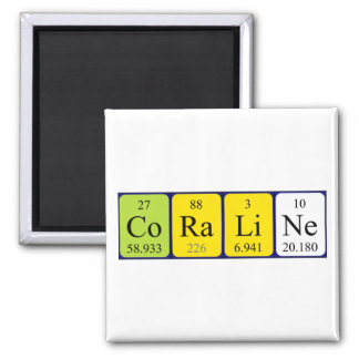 Coraline periodic table name magnet