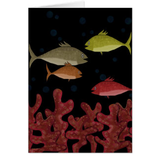 Corals and fish card