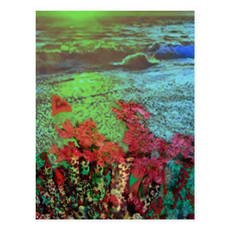 Corals and Flowers. Postcard