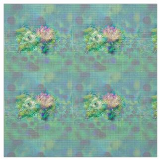 Corals in ocean depth fabric