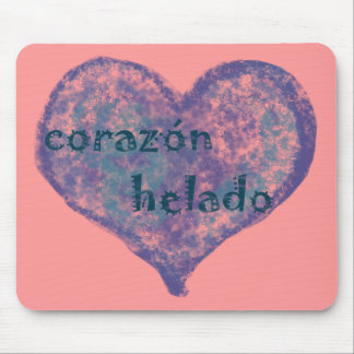 Corazon Helado Mousepads