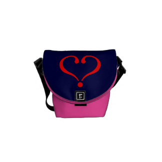 Corazón rojo y amor abierto en día de San Valentín Bolsas Messenger