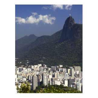 Corcovado overlooking Rio de Janeiro, Brazil Postcard