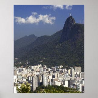 Corcovado overlooking Rio de Janeiro, Brazil Poster