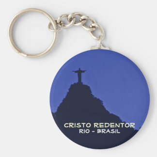 Corcovado, Rio-Brasil Basic Round Button Key Ring