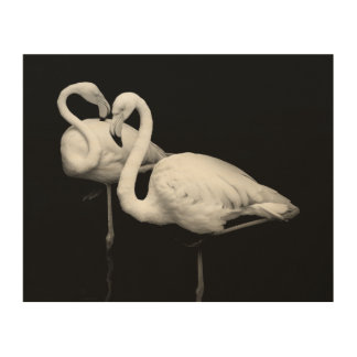 Cordial flamingos wood wall art