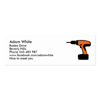 Cordless portable screwdriver drill business card template