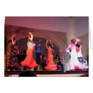 Cordoba Flamenco Dancers Card