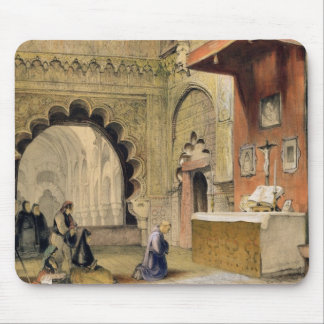 Cordoba: Monk praying at a Christian altar in the Mouse Pad