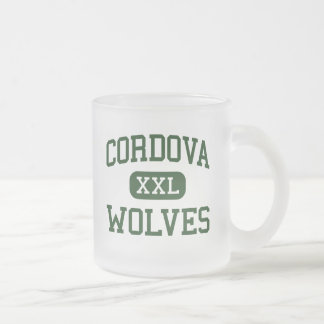 Cordova - Wolves - High School - Cordova Tennessee Frosted Glass Coffee Mug