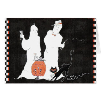 Core Strength and Martinis Ghost Halloween Pilates Card