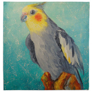 Corella parrot napkin