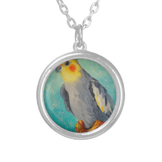 Corella parrot silver plated necklace
