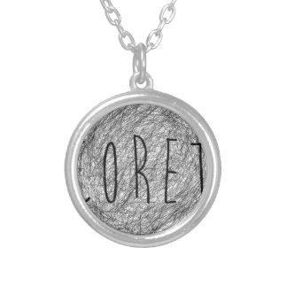Coret Sketch Logo Round Pendant Necklace