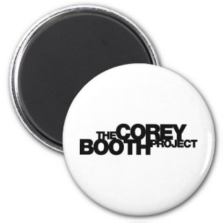 Corey Booth Project Merch with White or Black Logo 6 Cm Round Magnet