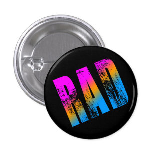 COREY TIGER 1980s NEW WAVE RAD PIN BUTTON