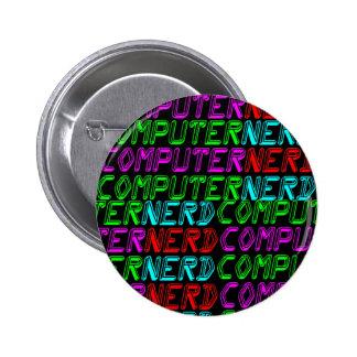 COREY TIGER 1980s RETRO COMPUTER NERD 6 Cm Round Badge