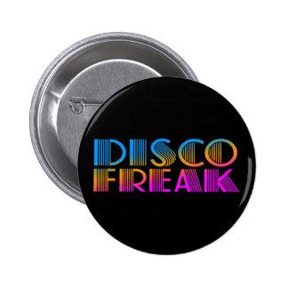 COREY TIGER 1980s RETRO DISCO FREAK MULTICOLOR 6 Cm Round Badge