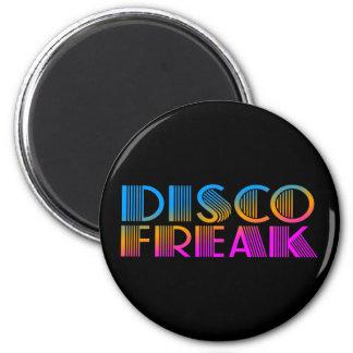 COREY TIGER 1980s RETRO DISCO FREAK MULTICOLOR 6 Cm Round Magnet