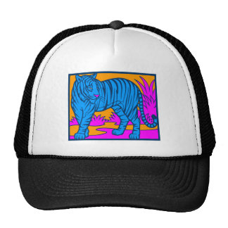 COREY TIGER 1980's RETRO JUNGLE TIGER BLUE Cap