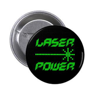COREY TIGER 1980s RETRO LASER POWER 6 Cm Round Badge
