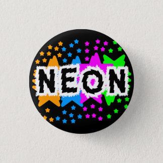 COREY TIGER 1980s RETRO NEON STARS 3 Cm Round Badge