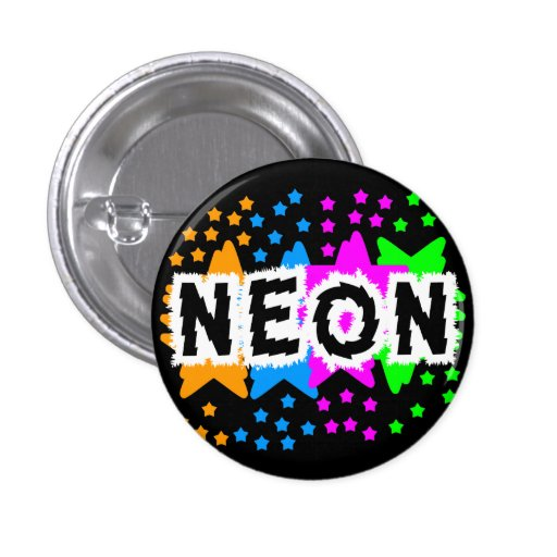 COREY TIGER 1980s RETRO NEON STARS Pins