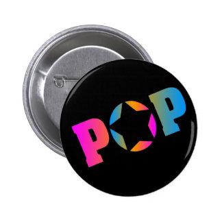 COREY TIGER 1980s RETRO POP DISCO STAR Buttons