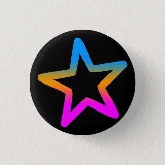 COREY TIGER 1980s RETRO STAR 3 Cm Round Badge