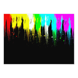 Corey Tiger 1980s Retro Vintage Neon Paint Drip Card