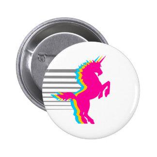 COREY TIGER 1980s RETRO VINTAGE UNICORN 6 Cm Round Badge