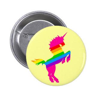 COREY TIGER 1980s RETRO VINTAGE UNICORN RAINBOW Button
