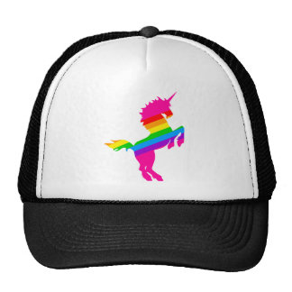 COREY TIGER 1980s RETRO VINTAGE UNICORN RAINBOW Mesh Hats