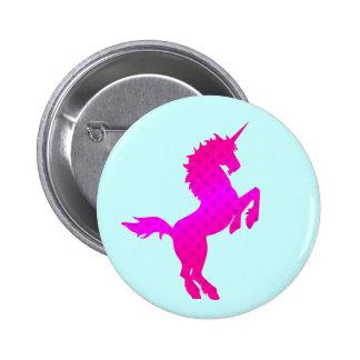 COREY TIGER 1980s RETRO VINTAGE UNICORN STARS PINK 6 Cm Round Badge