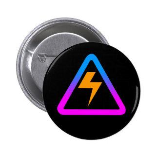 COREY TIGER 1980s RETRO ZAP SIGN 6 Cm Round Badge