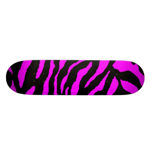 COREY TIGER 1980's TIGER STRIPE BOLD PINK BLACK Custom Skateboard