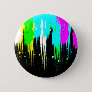 Corey Tiger 1980s Vintage Paint Drip 6 Cm Round Badge
