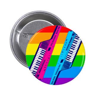 Corey Tiger 80 s Retro Keytar Rainbow Buttons
