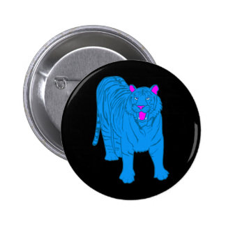 COREY TIGER 80's BLUE TIGER STANDING 6 Cm Round Badge
