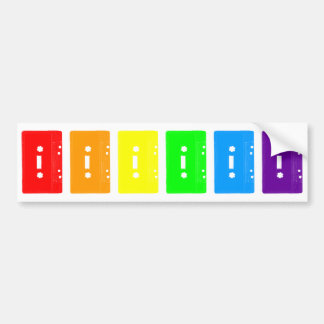 Corey Tiger 80s Cassette Tapes Rainbow Bumper Sticker